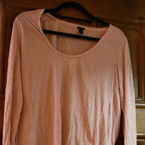 Jcrew pink long sleeved t shirt.